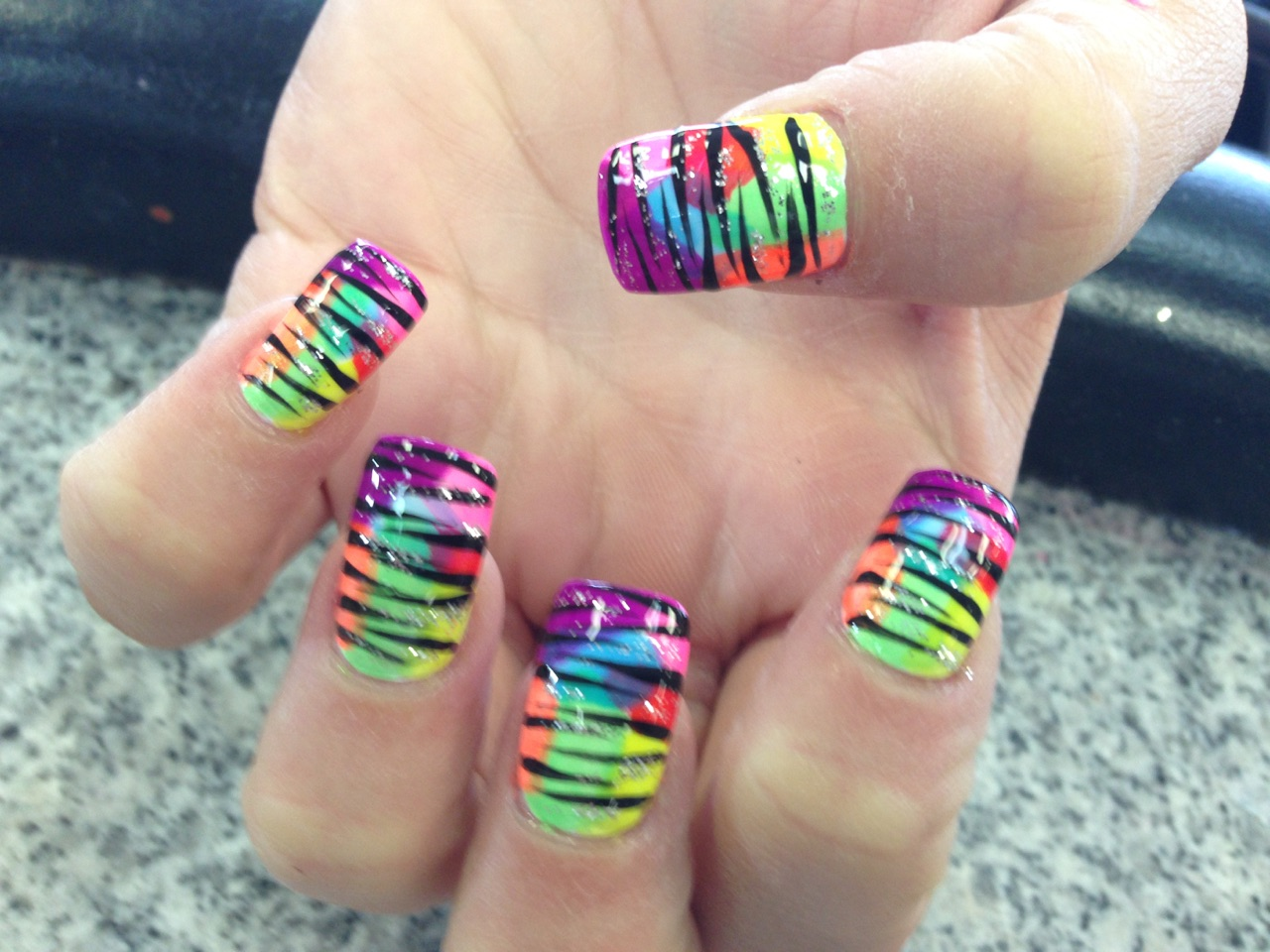 Tie Dye. Tie Dye Nails Art - Best Nail Art Indianapolis Cute & Lovely Designs Gel Nails